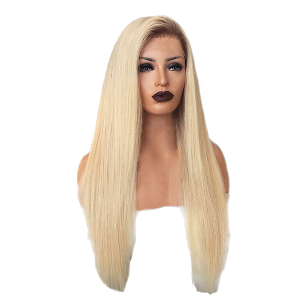 26 inch Synthetic Lace Front Wigs Heat Resistant Full Wig Long Straight Hair Light Gold диск обрезиненный d31мм mb barbell mb pltb31 1 кг черный