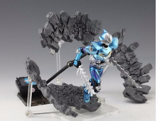 1x DIY Rock Crack Explode Effect Action Figure Display Stand for Kamen Rider