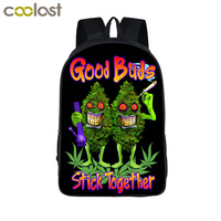 Smoke Weeds Leaf Backpack Men Women Street Hip Hop Bag Preppy Style Boys Girls School Bags Hipster Hiphop Backpack Bookbag