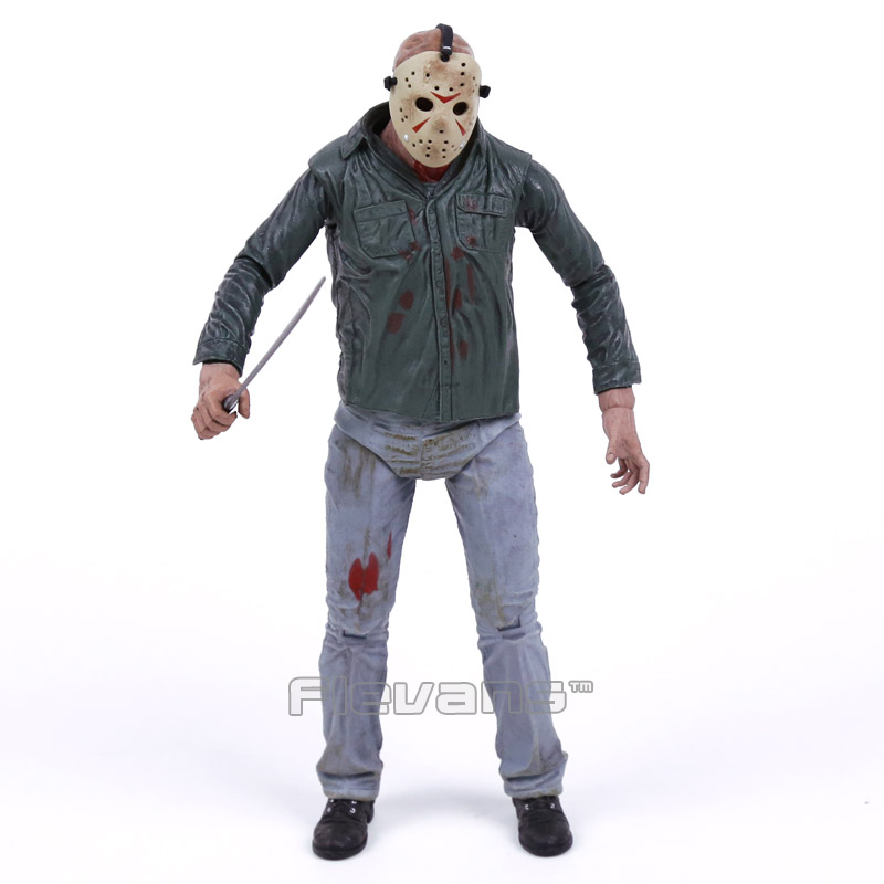 NECA Friday the 13th Part 3 3D Jason Voorhees PVC Action Figure Collectible Model Toy 18cm neca a nightmare on elm street 3 dream warriors pvc action figure collectible model toy 7 18cm kt3424