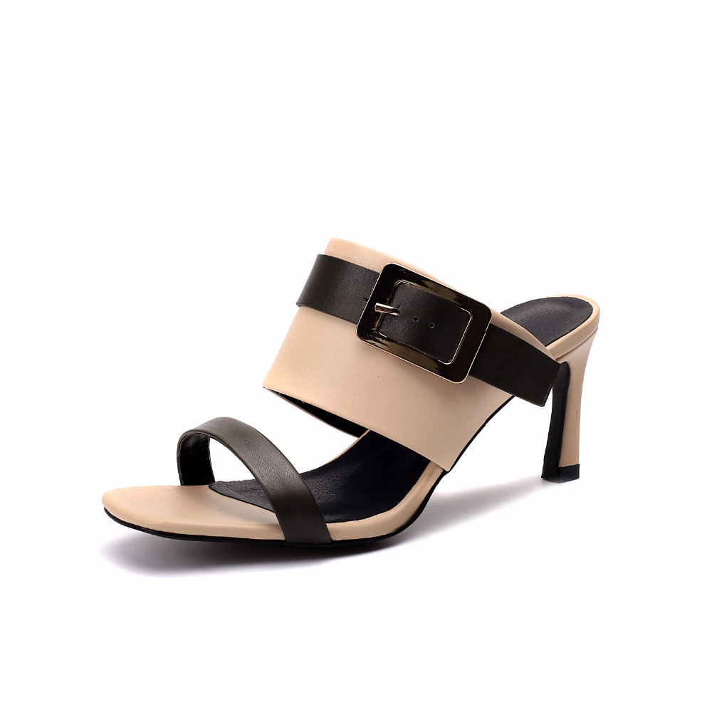 Slip Pelle Di Fashion Donna Arden Su Green 33 Pantofole Estate Dimensione 2018 Furtado Tacchi Genuino Stiletti Sandali Per La black Scarpe Alti In Piccola Fwq0zrU7vw
