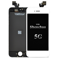 Highscreen Brand New AAA Quality LCD For IPhone 5 Screen With Digitizer Assembly Camera Holder