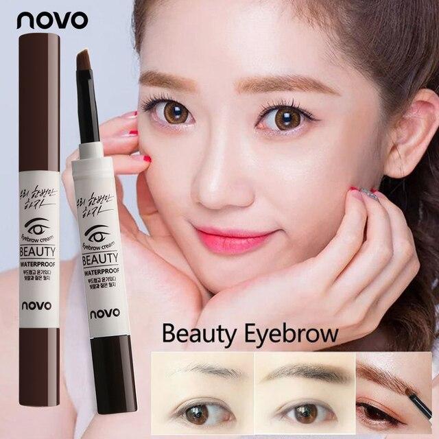 NOVO Eyebrow Cream Gel Make Up Waterproof Eye Brow Gel Long-lasting Natural  Makeup Pencil Eyebrow Enhancer With Brush 3 Colors Makeup