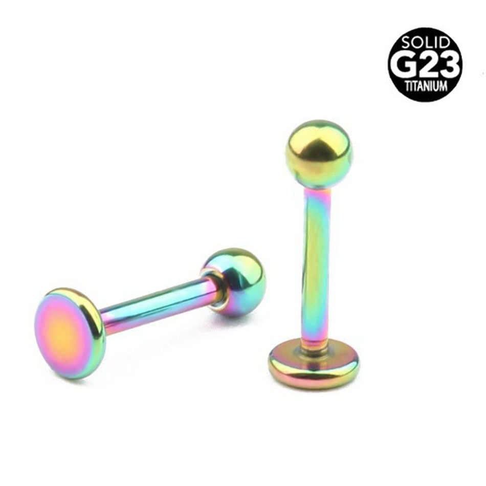 1Pc NEW [100% Titanium G23] Labret 16g(1.2mm) Lip Studs Fashion Cartilage Tragus Ear Lip Piercing Prong Earrings Body Jewelry