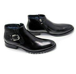 Wholesale - - Hot-selling new style brand handmade men first layer cow leather ankle boots z-0023
