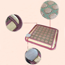 Free Shipping for Jade Cushion Electric Heating Far Infrared Pads Jade Physical Therapy Mats Yoga Heated Mats 45*45CM