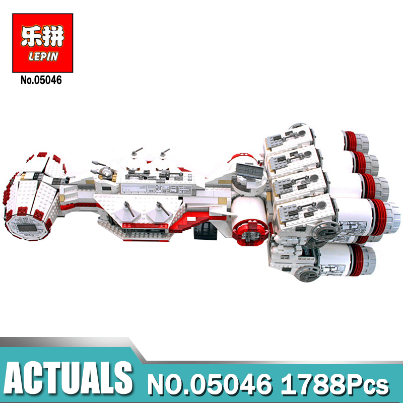 Lepin 05046 Star Series Wars The Tantive IV Blockade Runner Compatible Legoing 10019 Building Blocks Bricks for Boy's DIY toy 2017 new 05046 1788pcs star tantive iv re blockade bel runner model building blocks brick toy gift 10019 funny toy war