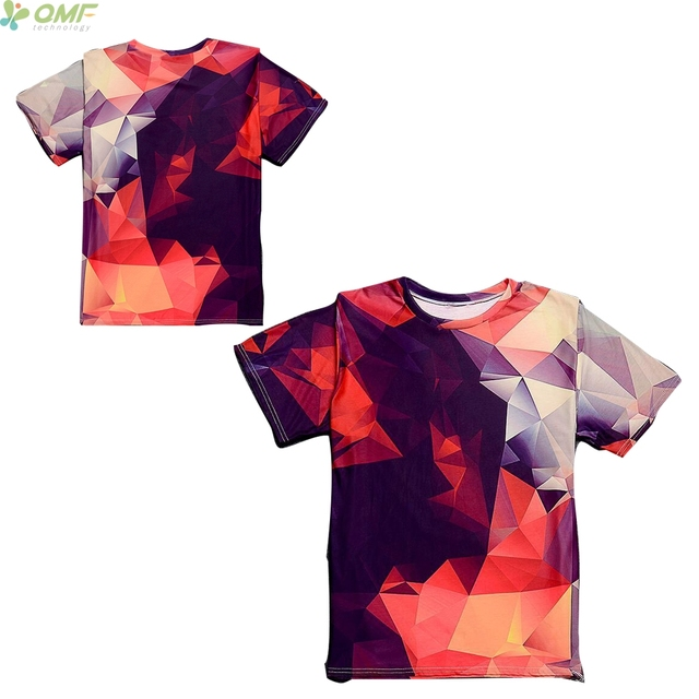 38232714d643 Abstract Geometry Print Men T-shirts Harajuku Short Sleeve T Shirt Loose  Colorful 3D Prism Pattern Couples Tops Tee Streetwear