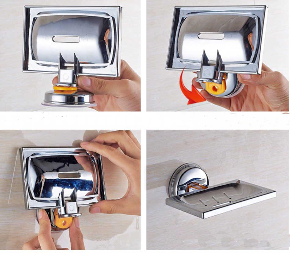 Silne frajerem mydelniczka łazienka mydło Box kreatywny spustowy mydelniczki półka do przechowywania
