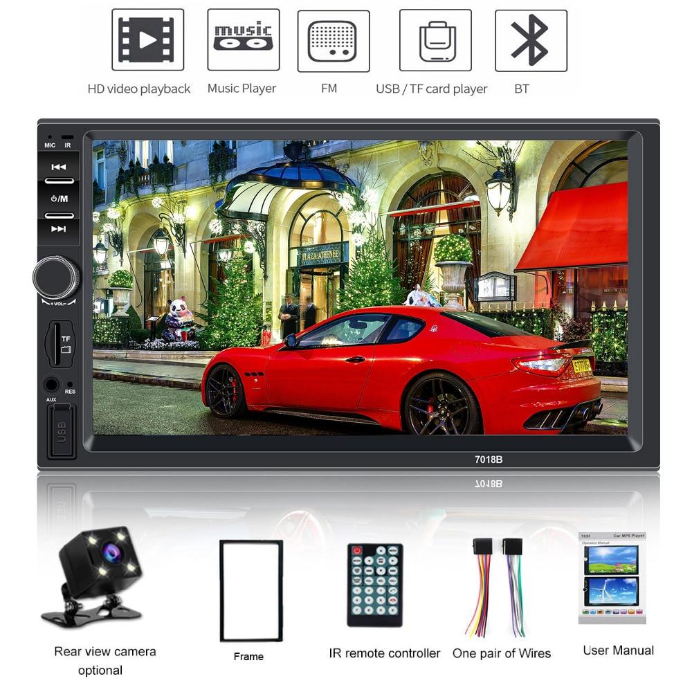 2 Din Car Radio Bluetooth Multimedia Player HD 7