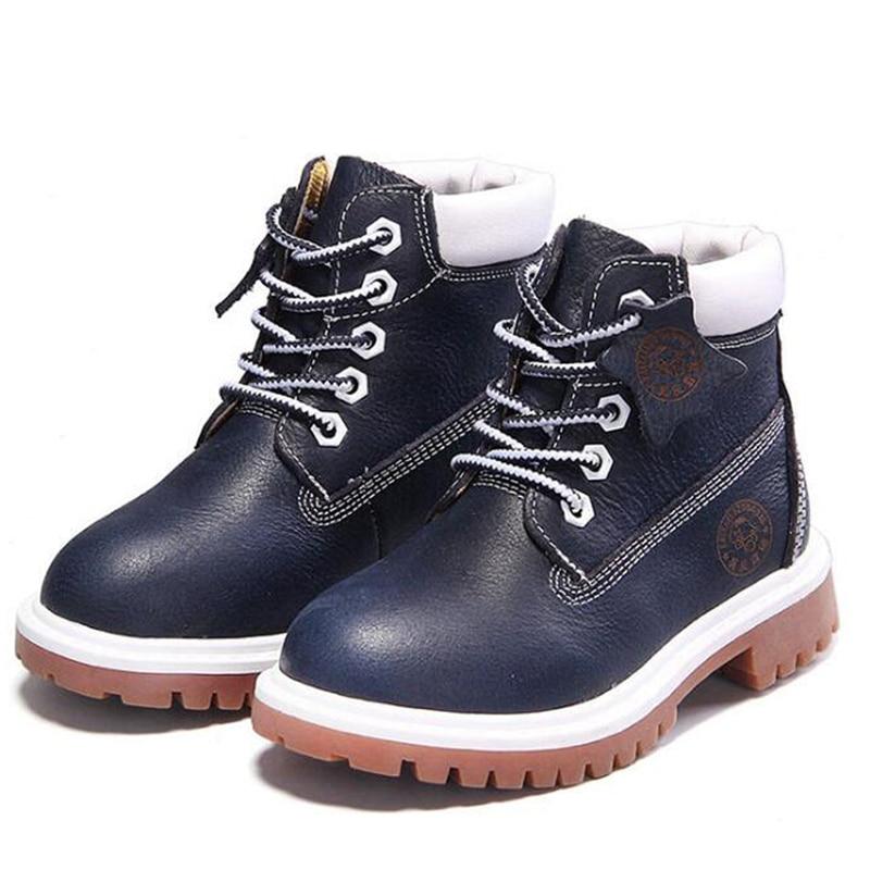 Novi visoke kvalitete od prave kože dječak djevojka čizme 21-37 - Dječja obuća - Foto 2