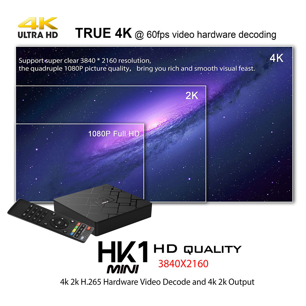 HK1 Mini Android 8.1 tv box