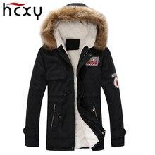 2017 new arrival men's thick warm winter coat fur collar army green men parka big yards long cotton coat jacket parka men