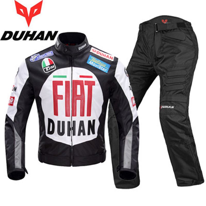Motorcycle Racing Suit Motorcycle Anti Falling Windproof Suit FIAT Cross Country Motorcycle Riding Apparel For Men Size M-XXL