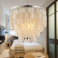 Neo classical American shell chandelier children's room Nordic French fabric bedroom living room cloakroom porch light led