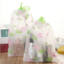 Fashion Lotus Flower Transparent Cosmetic Bag Travel Zipper Make Up Case Organizer Storage Wash Box Makeup Pouch Toiletry Beauty(China)