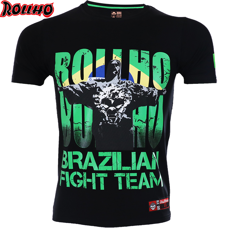 BRAZILIAN MMA Clothing Boxing Shirt Gym Rashguard Fitness T Shirt Men Tight Weight Lifting Muay Thai Tee Shirt