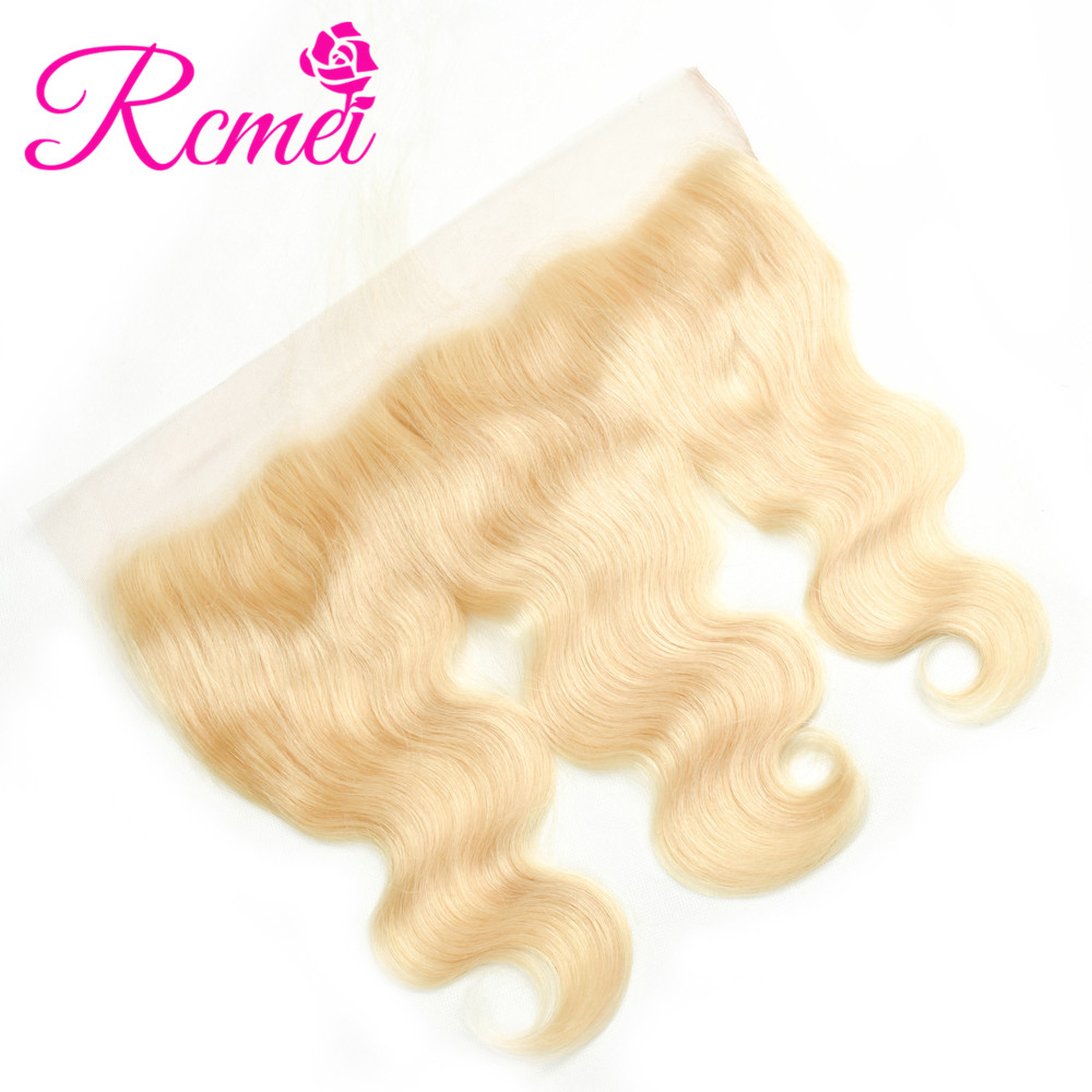 Closures Rcmei Brazilian Body Wave 613 Blonde Lace Closure 4x4 In Ches Free Part Remy Human Hair Closure Bleached Knots With Baby Hair Hair Extensions & Wigs