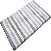 WINLIFE Simple Striped Style Rugs Shaggy Bath Mats Anti-Skid Rugs For Kitchen/Bedroom Bedside Mats Long Rugs Washable Mats