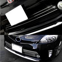 цена на JY 4pcs SUS304 Stainless Steel Front Bumper Grill Trim Car Styling Cover Accessories For Toyota Prius ZVW30 30 2012-2015