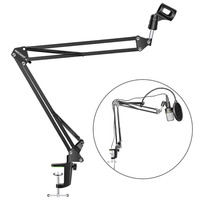 NEEWER Microphone Suspension Boom Scissor Arm Stand