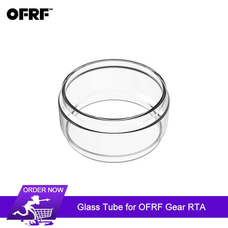 Original OFRF Gear RTA Tank Atomizer Replacement Pyrex Glass Tube 24mm Tank Capacity 3.5ml Atomizer Clear Glass Tube 1pcs/lot