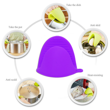 Food grade 1 piece Heat Resistant Microwave cooking tools Silicone Oven Mitt Cooking Pinch Grips Skid Silicone Pot Holder