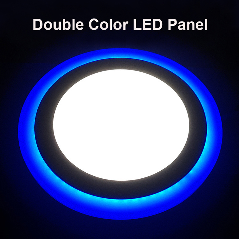 Glorious 6w12w16w Led Panel Downlight Round 3 Model Led Lamp Panel Light Double Color Ceiling Recessed Lights Indoor Lighting Bulb 20pcs Soft And Antislippery Back To Search Resultslights & Lighting