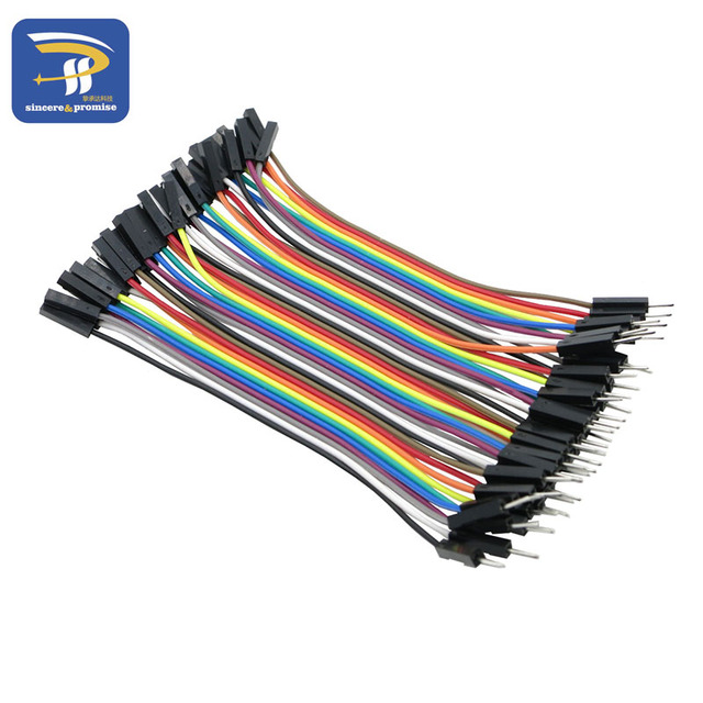 1lot =40pcs 10cm 2.54mm 1pin 1p-1p male to female breadboard jumper wire Dupont cable