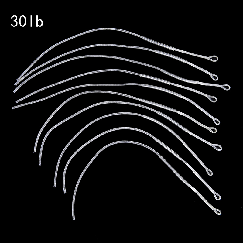 Fly Fishing Braided Loop Connector 30LB//50LB Leader Loops For Fly Line 10pcs//Set