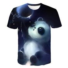 New Cool Style Violet  Summer Gangster Panda Printed T shirt For Men Harajuku Fashion Tees Casual Breathability T shirt mariposa panda violet