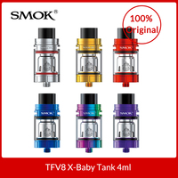 Original SMOK TFV8 X Baby Tank 4ml With V8 X Baby Q2/M2 coils + Glass Tube for Electronic cigarette tfv8 x baby vape tank
