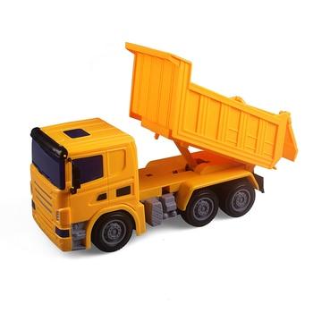 Auto Elettriche Per Ragazzi   YUKALA RC Truck (trattore) Di Ingegneria Discarica Mixer Giocattoli Modello Di Auto Per I Ragazzi.