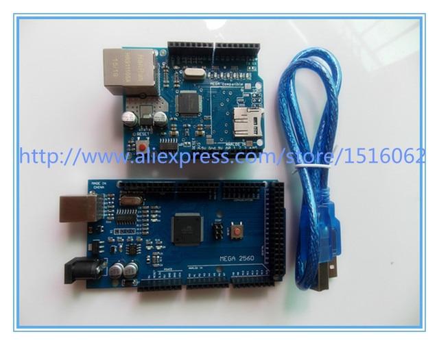 MEGA 2560 R3 ATmega2560 AVR placa USB + Cabo USB para Arduino W5100 R3 2560 MEGA2560 R3, Nós Somos o fabricante