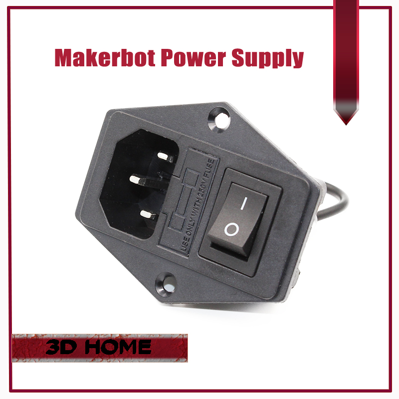 1Pc 3 in 1 Fuse Power Supply Socket For Makerbot Ultimaker 15A