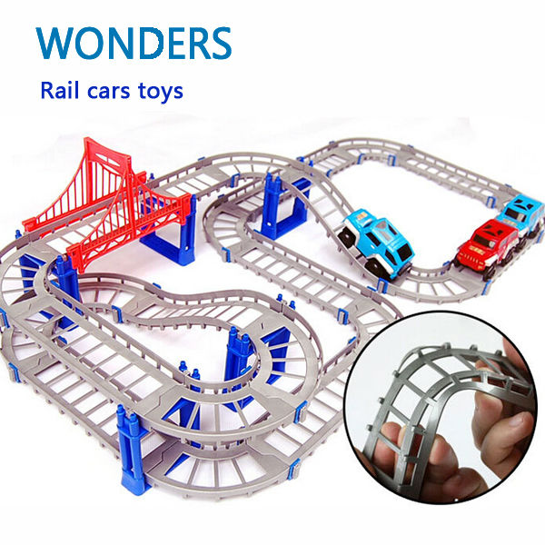 Ny Hot Selge 3D-barn leker festlige gaver To-lags Spiral Spor Roller Coaster Toy Electric Rail Car for Child Gift