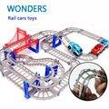 Nova Venda Quente 3D crianças brinquedos presentes festiva Two-camada Espiral Faixa Roller Coaster Brinquedo Carro de Trilho Elétrico para Presente da criança
