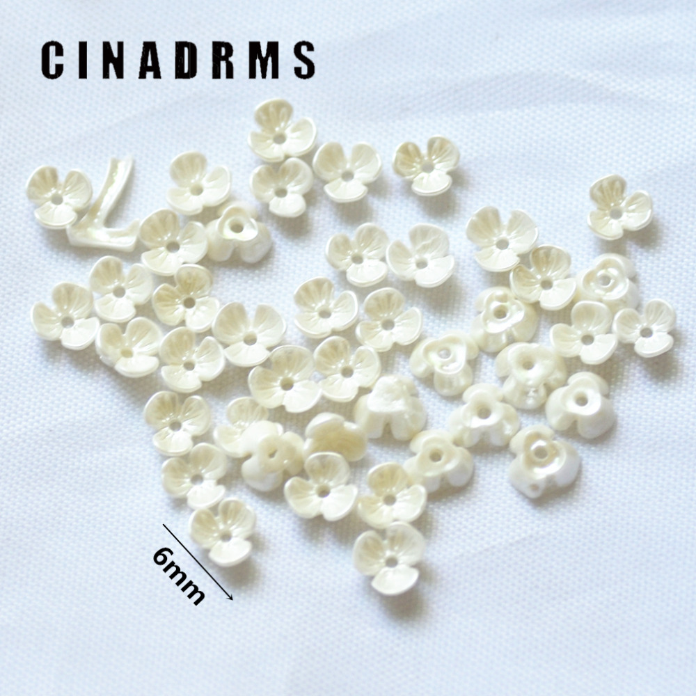 6mm 100PCS/Pack Tiny Pure White Resin Flowers,Flatback Flowers,resin Flower Cabochons