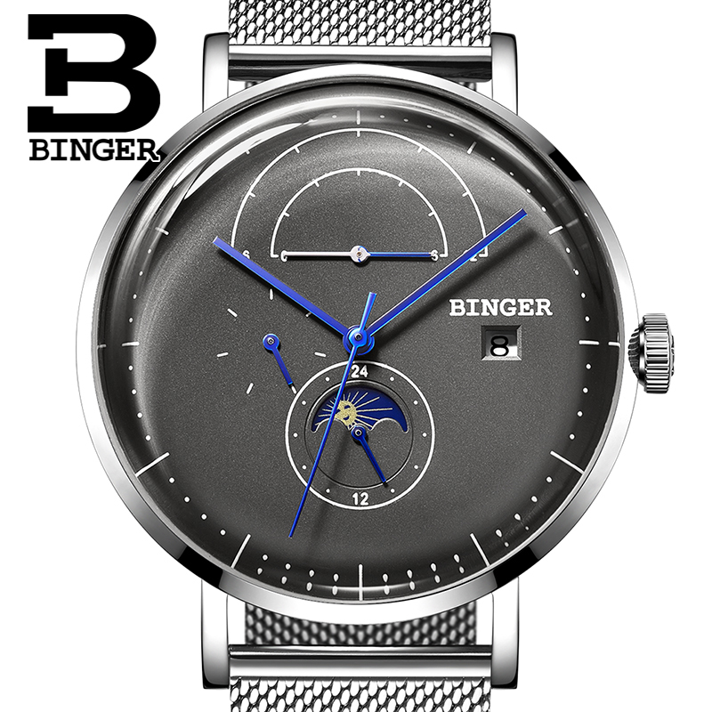 Switzerland BINGER Men Watch Luxury Brand Automatic Mechanical Mens Watches Sapphire Male Japan Movement reloj hombre B8610-8 switzerland binger watch men 2017 luxury brand automatic mechanical men s watches sapphire wristwatch male reloj hombre b1176g 6