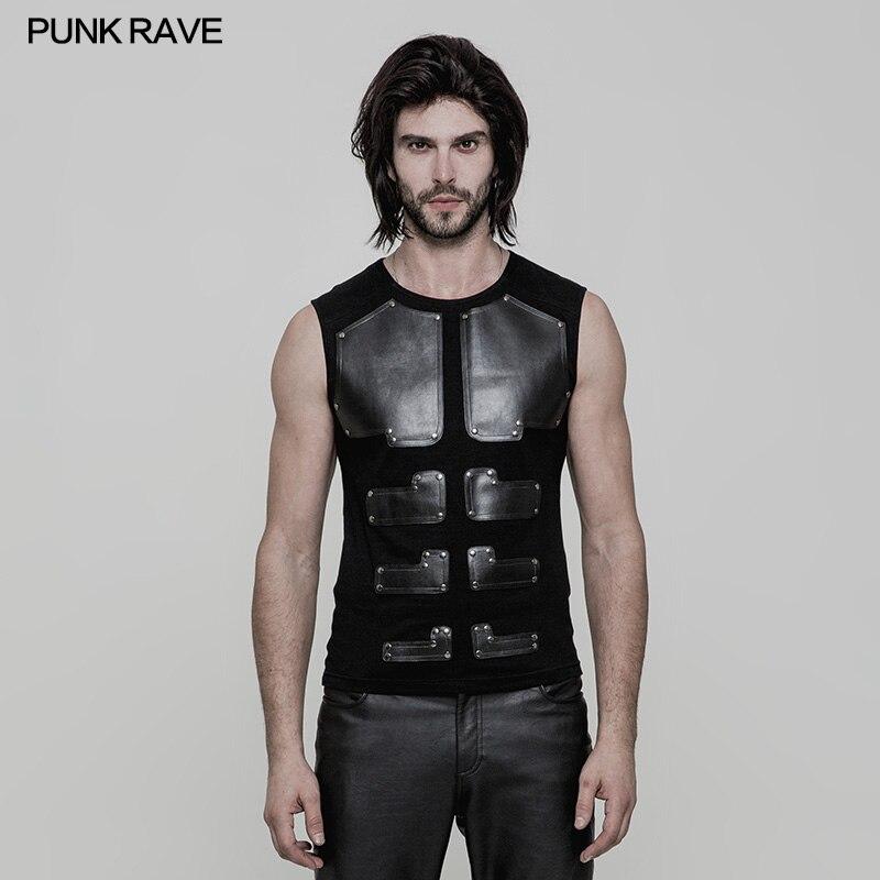 Punk Rave Mens T-shirt Casual Steampunk Cool Streetwear Summer Hip Hop Tops for Men
