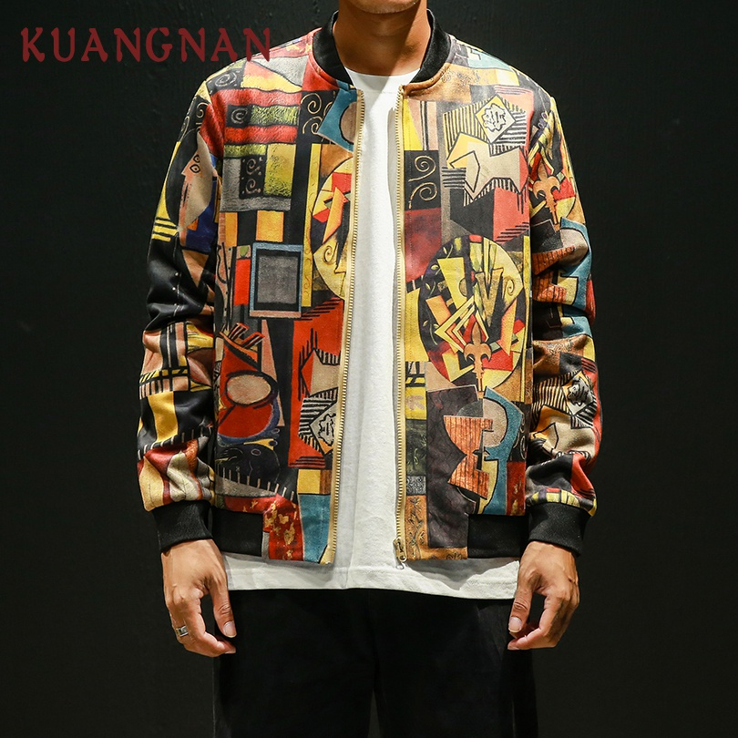92934a5e6 US $25.49 40% OFF|KUANGNAN Japan Style Hip Hop Bomber Jacket Men Clothing  2018 Japanese Streetwear Men Jacket Coat 5XL Mens Jackets And Coats-in ...