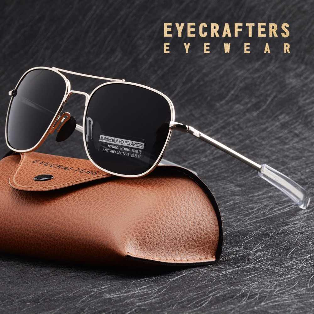 87ced4c5b2 Mens Pilot Military Sunglasses Driving Mirrored Glasses Eyewear 285 Blue  Brand Designer Polarized Sunglasses