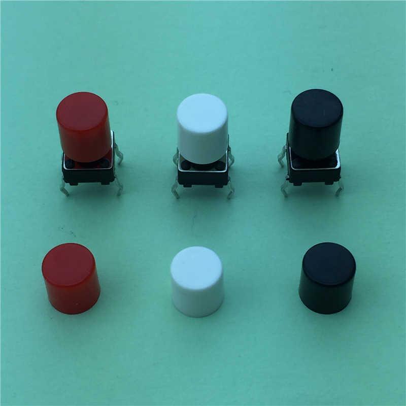 100 pièces G63 haute qualité en plastique blanc chapeau chapeau pour 6*6mm Tactile bouton poussoir couvercle couvercle vendre à perte USA biélorussie Ukraine