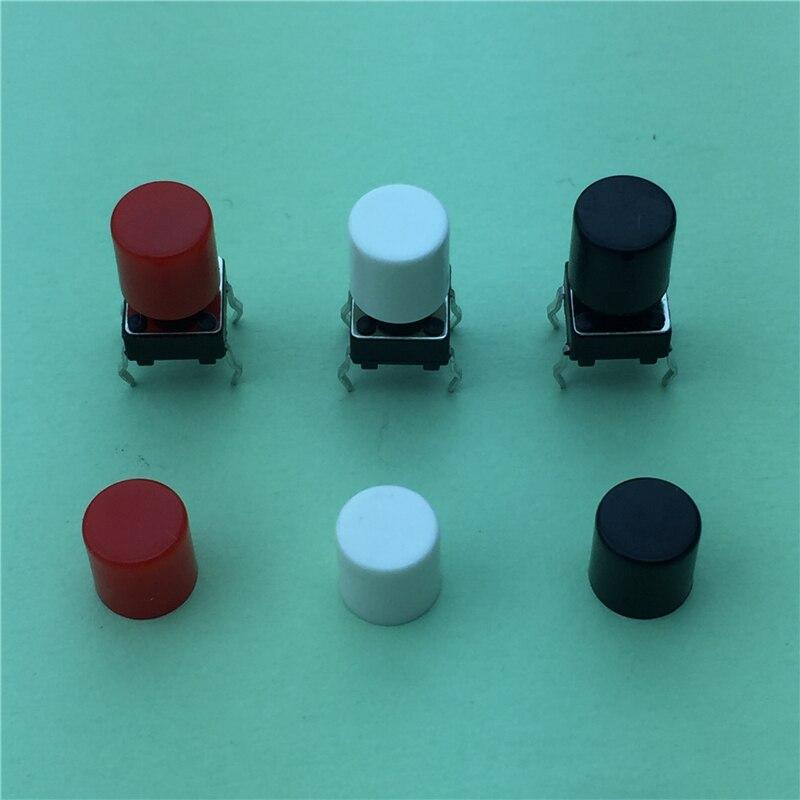 100pcs//lot  Plastic Cap Hat for 6*6mm Tactile Push Button Switch Lid Cover DSUK