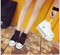 Новые горячие обувь женщина мода холст обувь повседневная женщин платформа дышащая Кожа обуви