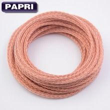 PAPRI 8 cores Trenzado Teflon OCC Copper Cable for DIY HIFI Audio Headphone Earphone Headset 19 strands x 0.12mm wires