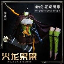 Anime Goblin Pembunuh Tinggi Elf Battle Uniform Cosplay Kostum Disesuaikan Ukuran Unisex Halloween Karnaval Gratis Pengiriman