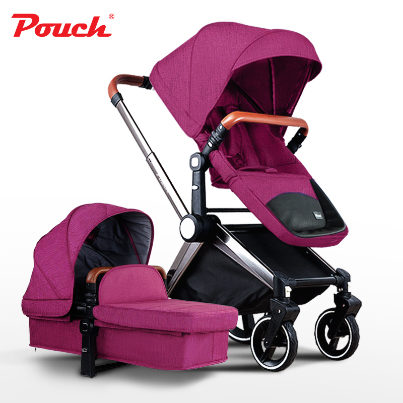 2-in-1 baby carriage European high landscape SUV style baby stroller  newborns can sit and lie dual-use baby strollers  folding цена 2016