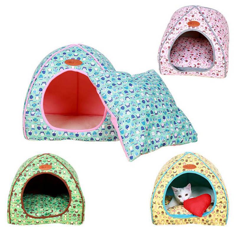 Soft Winter Warm Dog House With Removable Cover Dog Beds Mat Foldable Confortable Pet Dog House For Small Dog Cat