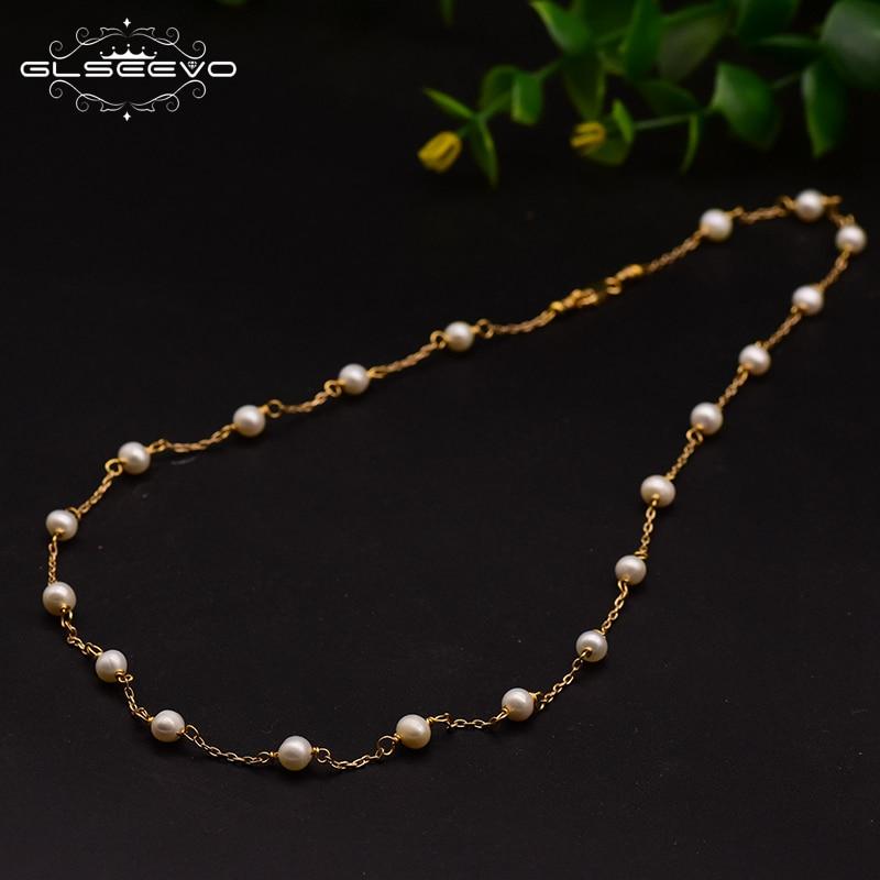 XlentAg Original Design Natural Fresh Water Handmade Pearl Necklace For Women Wedding Engagement Fine Jewelry GN0086